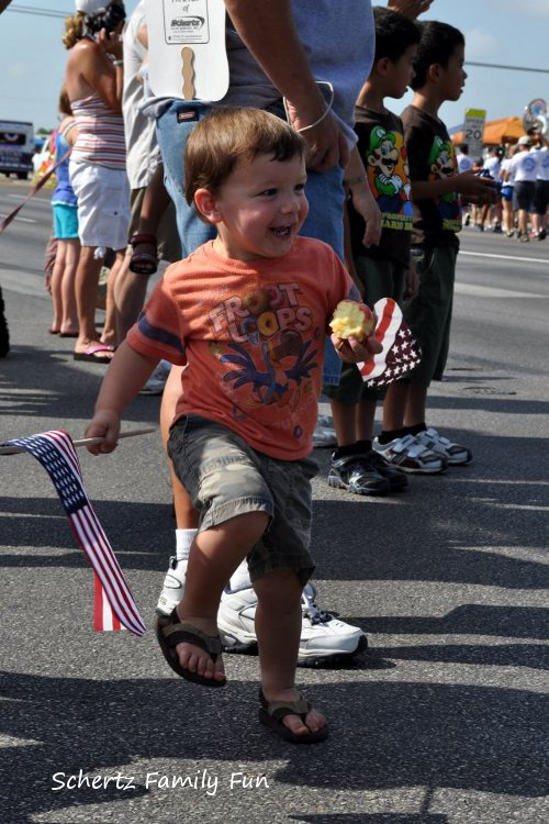 Little Man Marching at Schertz Jubilee Parade